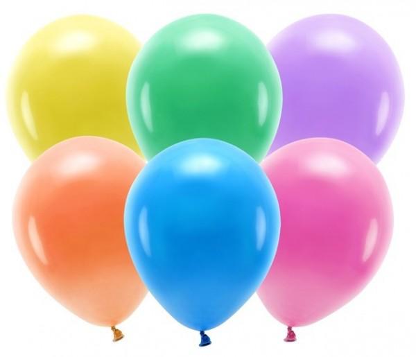 100 Eco Pastell Ballons bunt 30cm
