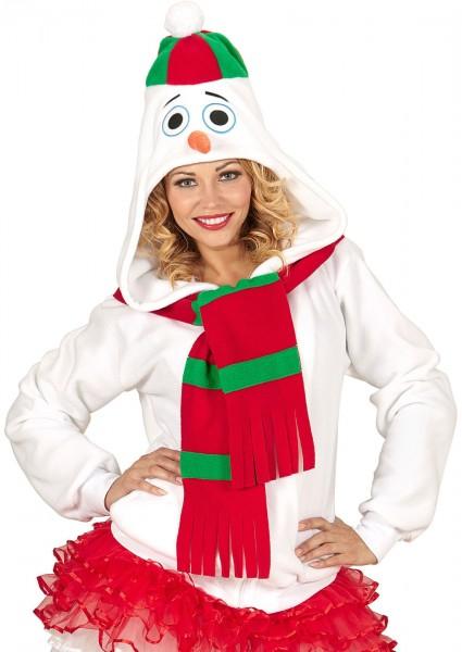 Pullover con cappuccio Olafio pupazzo di neve
