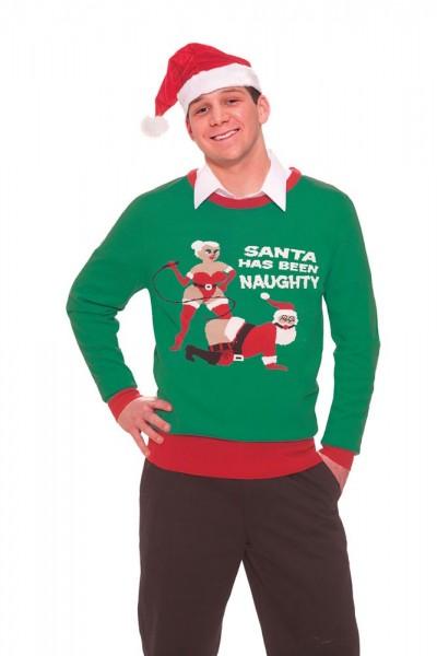 Świąteczny sweter Naughty Santa