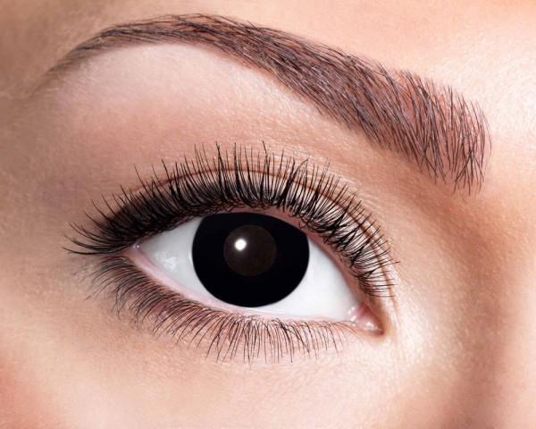 Total Black Jahres Kontaktlinsen