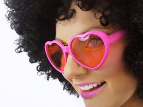 Herzbrille Pink
