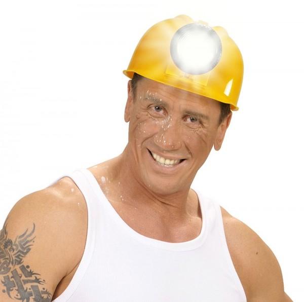 Ulli Bauarbeiter Helm Mit Echter Leuchte