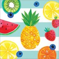 16 Tutti frutti Servietten 33cm