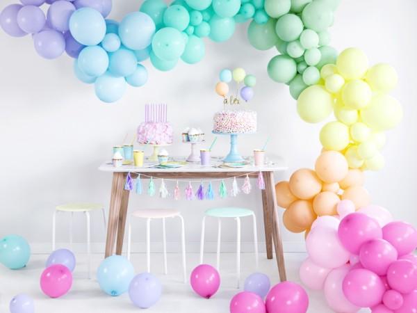 10 Partylover Luftballons pastellgelb 30cm 3