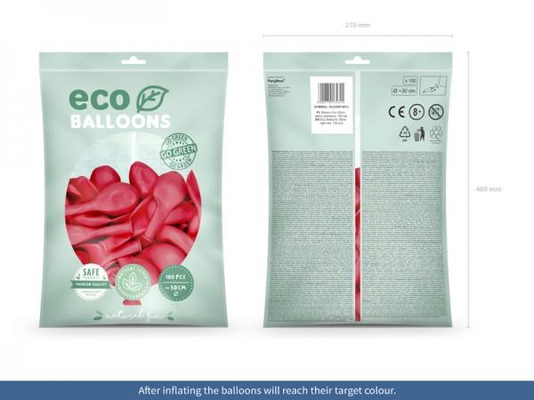 100 globos pastel eco coral 26cm
