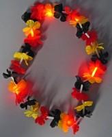 LED Hawaiikette in Deutschlandfarben