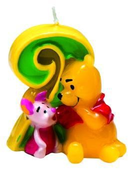 Winnie Puuh Happy Birthday Kerze 2. Geburtstag