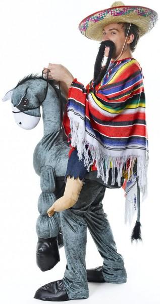 Mexicaan op ezel op de rug kostuum