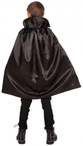 Cape de comte de vampire avec col pour enfants