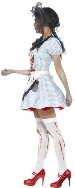 Bloody skull and crossbones horror costume
