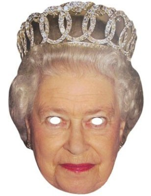 Kartonowa maska królowej