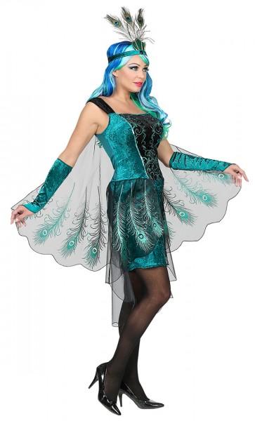 Nobile costume da pavone Mariella da donna