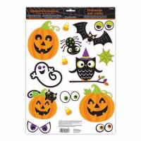 Lustige Halloween Figuren Fenster Sticker 15 Stück