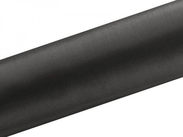Tejido satinado Eloise negro 9m x 16cm