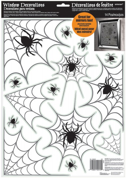 Unheimliche Spinnennetz Sticker Halloween Fenster Dekoration