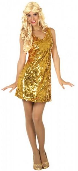 Funkelndes Paillettenkleid für Damen gold