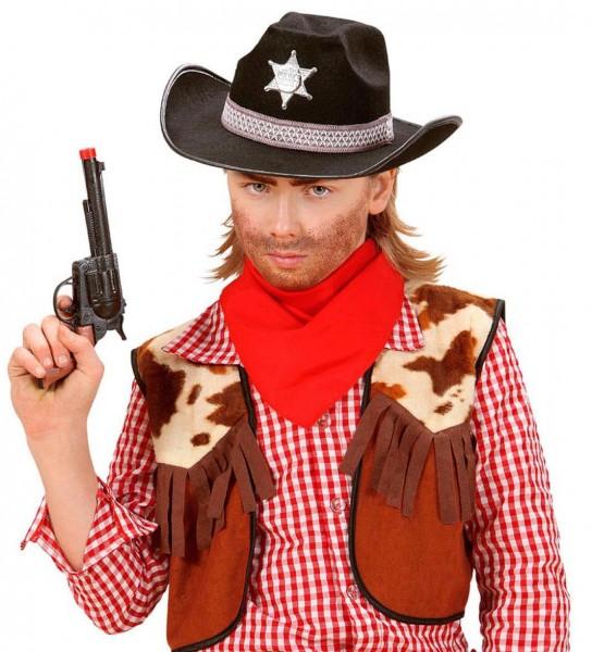 Schwarzer Cowboy Kinderhut