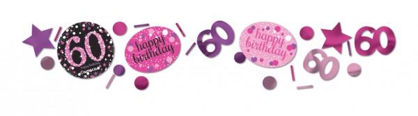 60. Geburtstag Pink Sparkling Happy Birthday Streudeko 1