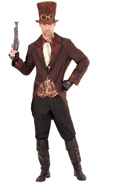 Steampunk gangster kostuum voor mannen