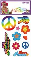 Hippie Peace & Love Tattoos