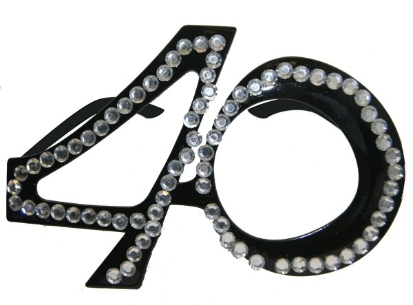 Party glasses Diamond 40 black
