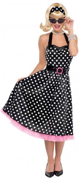 50er Jahre Polka Dots Kostüm für Damen