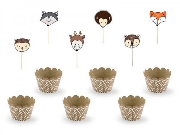 Woodland Cupcake Set 12 pieces