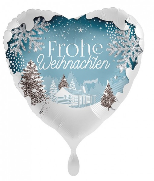Ballon de Noël blanc 45cm