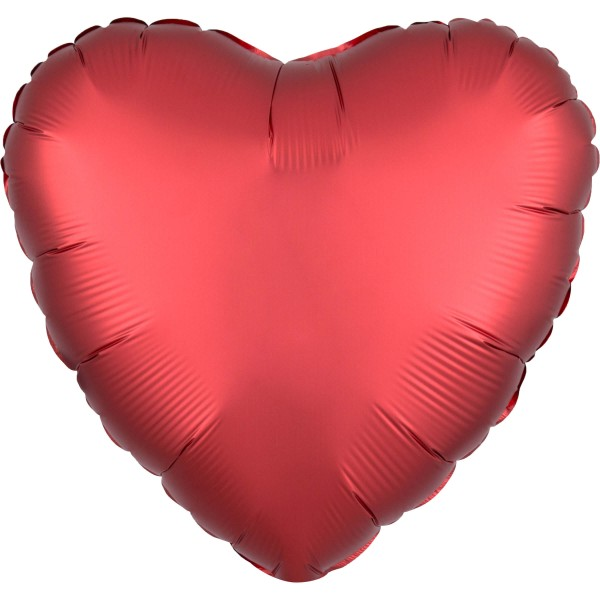 Red satin heart balloon 43cm