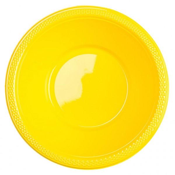 10 bols pour buffet de fête jaune soleil 355ml