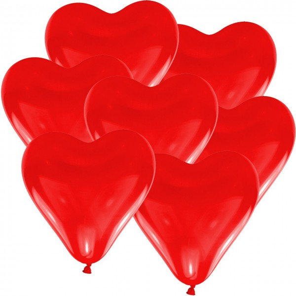 100 heart balloons red 30cm