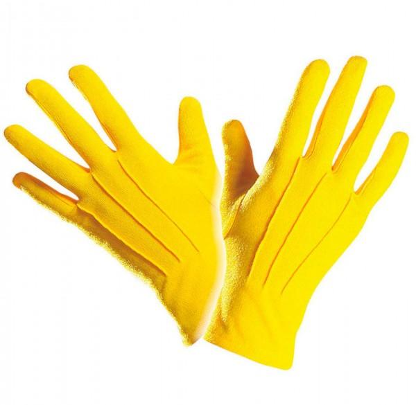 Sonnengelbe Handschuhe