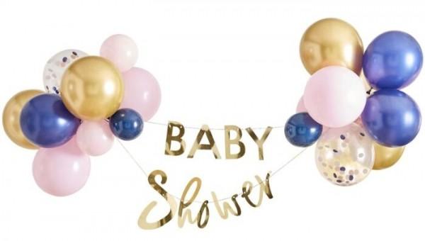 Golden metallic baby shower garland 2m