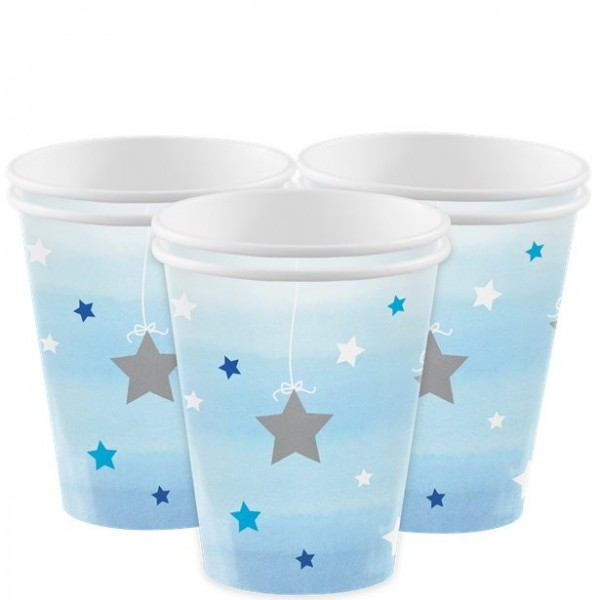 8 vasos de fiesta Blue Star 256ml