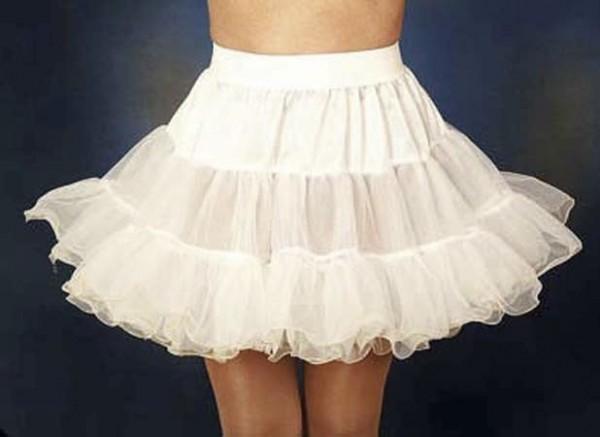 Weißer Petticoat Mit Drahtkante Für Mädchen