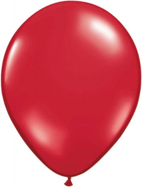 100 globos de látex rojo rubí 30cm