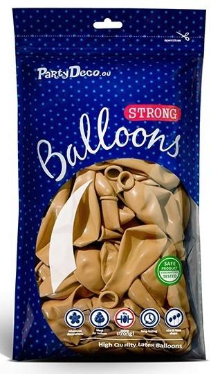 50 Partystar metallic Ballons gold 30cm
