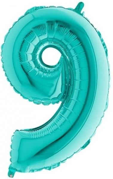 Ballon XXL numéro 9 vert menthe 1.02m