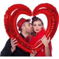 Roter Herz Fotorahmen 80 x 70cm