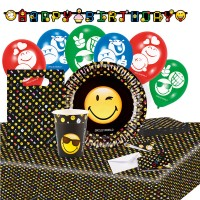 Party Set Smiley Emoticons 66-teilg