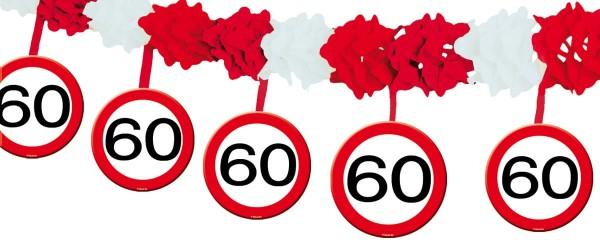 Panneau de signalisation 60 guirlande 4m