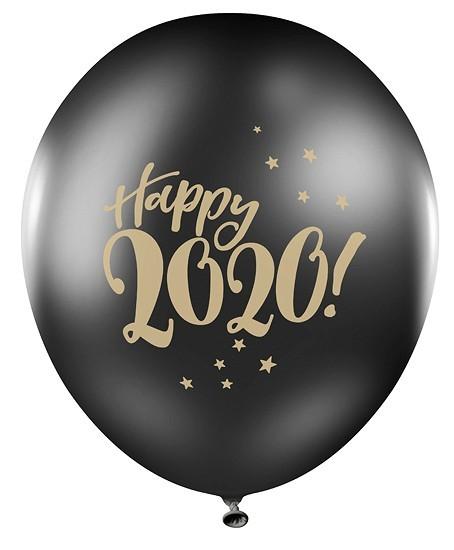 6 Happy 2020 Luftballons 30cm