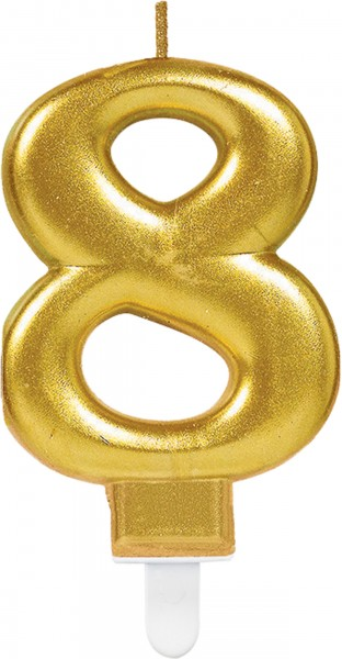 Goldene Zahlenkerze 8