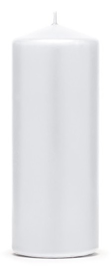 6 bougies pilier Rio blanc 12cm