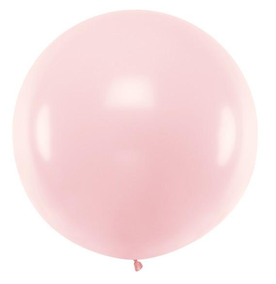 Palloncino XL in lattice rosa chiaro 1m