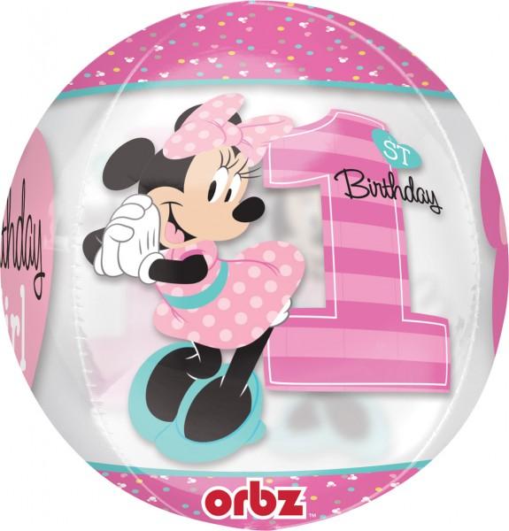 Orbz Ballon Minnie Mouse 1. Geburtstag
