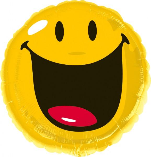Folienballon Lachender Smiley Partyde