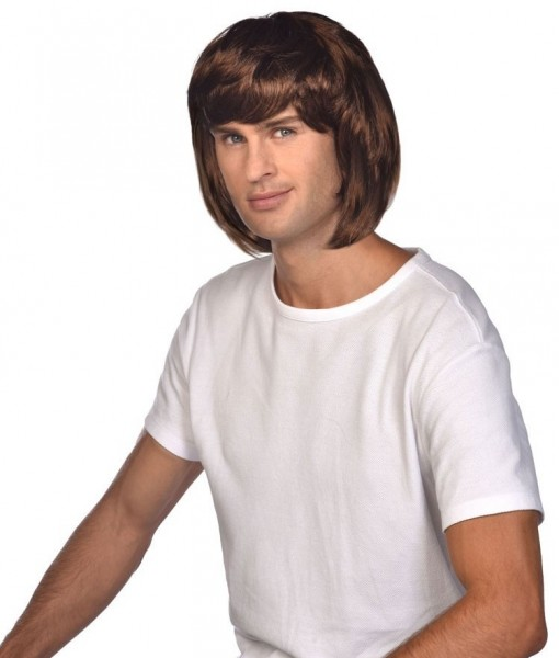 Brown 70s wig Eric