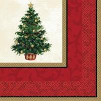 16 Weihnachtsbaum Servietten 33cm