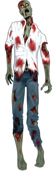 Horror zombie wall decoration cardboard hanger 150 cm